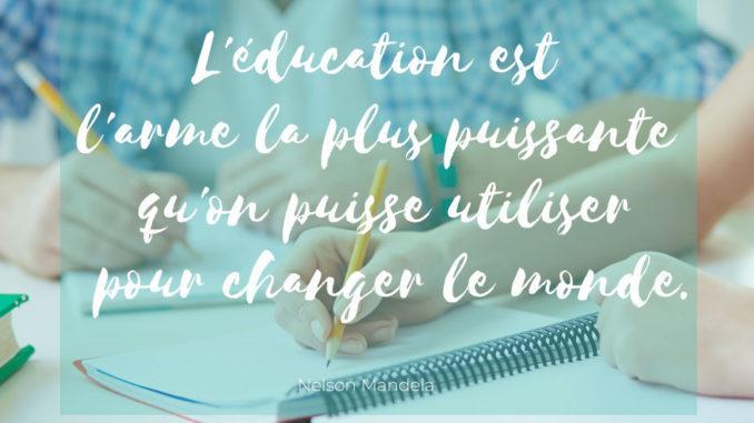 Citation L éducation Est L Arme