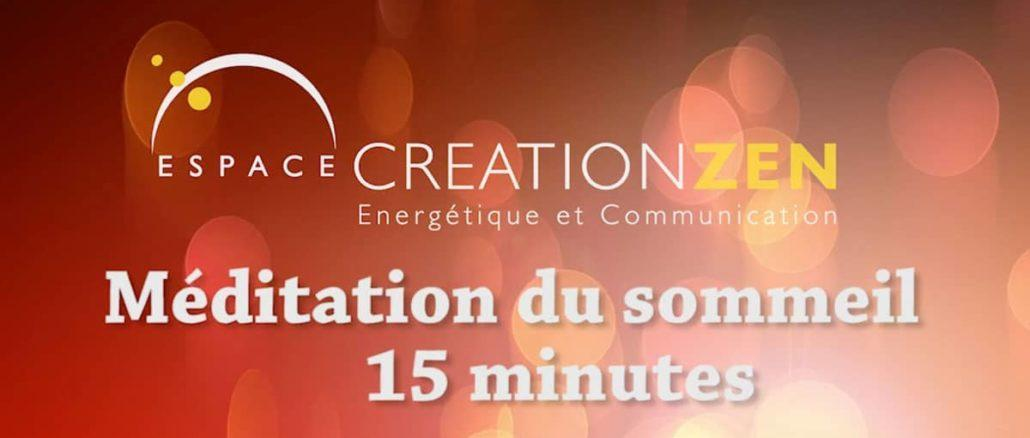 méditation du sommeil - Espace création zen - Michel Ulrich